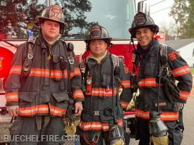 2nd Platoon - Captain Brandon Burton, Sergeant Troy Vinton, and Firefighter Jordan Yuodis